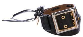 Saint Laurent Leather Studded Belt