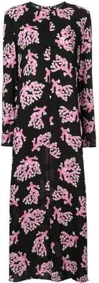 Marni branch print maxi dress