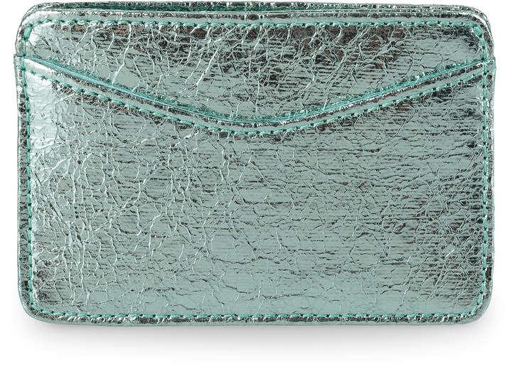 Oliver Bonas Fleur Mint Metallic Card Holder