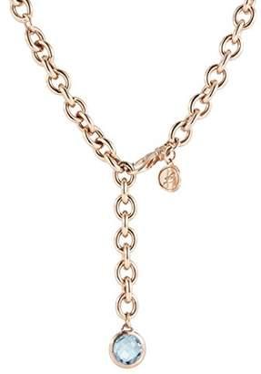 Bronzallure Y-Bronze WSBZ00454.BL Topaz Necklace 18 cm