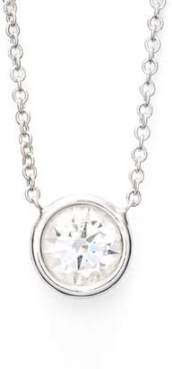 Bony Levy Large Diamond Solitaire Pendant Necklace