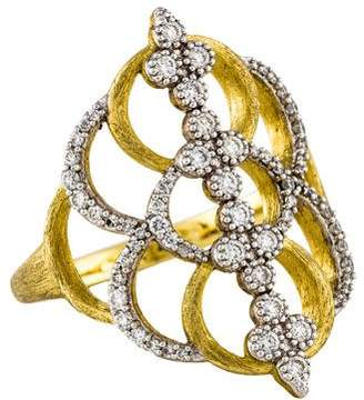 Jude Frances 18K Diamond Moroccan Ring
