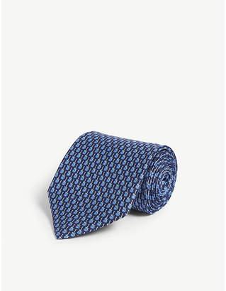 Salvatore Ferragamo Electric guitar print silk tie
