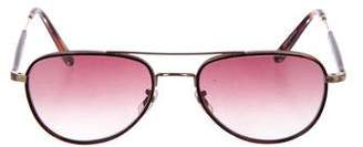 Garrett Leight Aviator Gradient Sunglasses