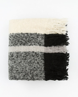 Le Château Stripe Knit Blanket Scarf