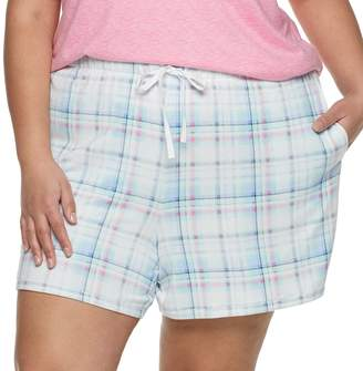 Croft & Barrow Plus Size Whisperluxe Pajama Shorts