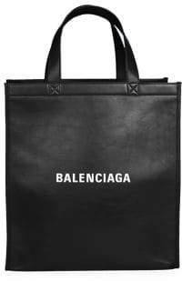 Balenciaga Leather Logo Shopper Bag