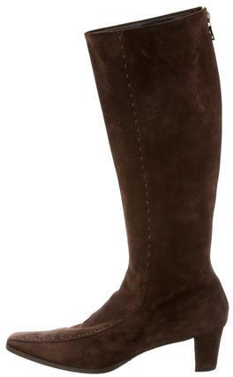 pradaPrada Square-Toe Tall Boots