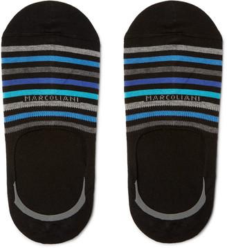 Marcoliani Striped Stretch Pima Cotton-Blend No-Show Socks $21 thestylecure.com
