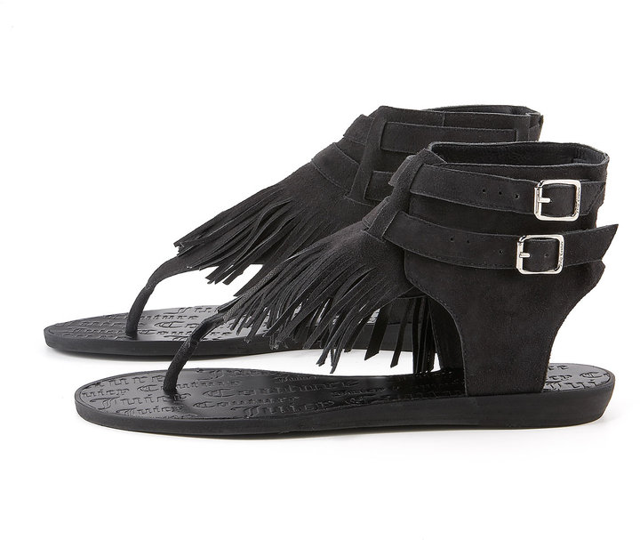 Juicy Couture Mannie Fringe Thong Sandal