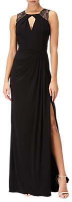 Adrianna Papell Jersey Sleeveless Gown, Black