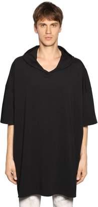 Faith Connexion Oversize Hooded Cotton Jersey T-Shirt