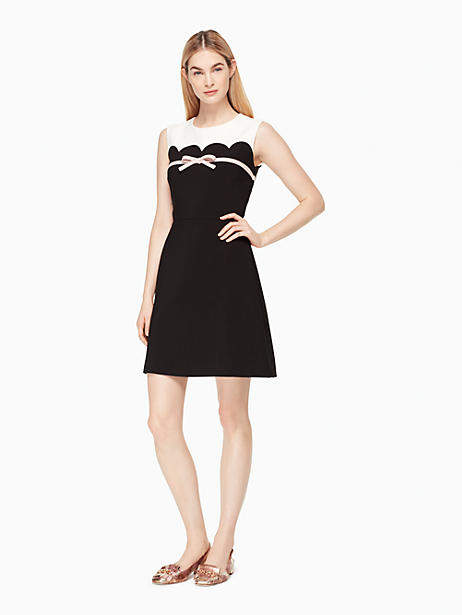 Kate Spade Scallop bow a-line dress