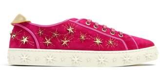 Aquazzura Cosmic Star embellished suede trainers