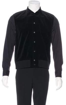 Givenchy Wool-Trimmed Velvet Shirt Jacket