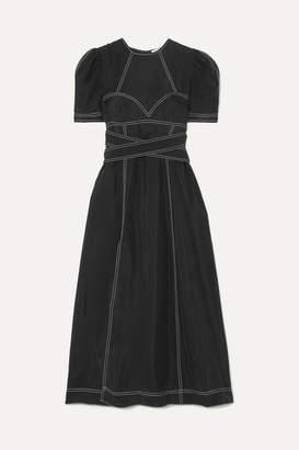 Alice McCall Hachi Brushed-twill Midi Dress