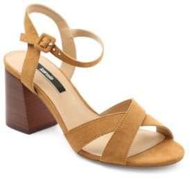 Kensie Exalia Crisscross Block Heel Sandals