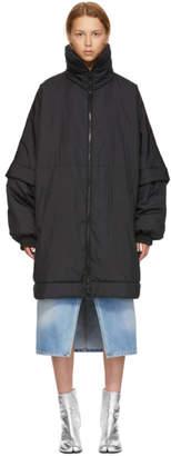 Maison Margiela Black Short Water-Repellent Nylon Jacket