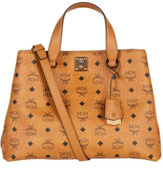 MCM Large Visetos Signature Tote Bag