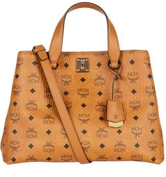 MCM Large Visetos Signature Tote Bag