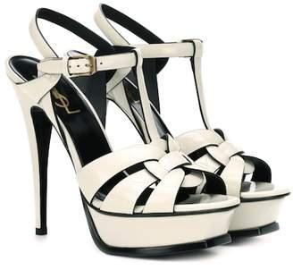 Saint Laurent Tribute 105 patent leather sandals