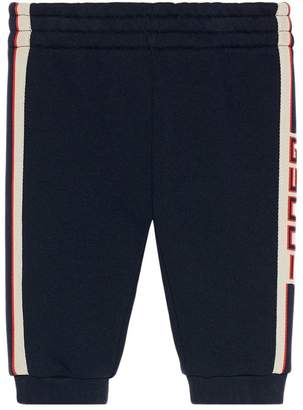Gucci Kids Baby jogging pant with stripe