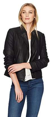 Lark & Ro Women's Moto Leather Jacket