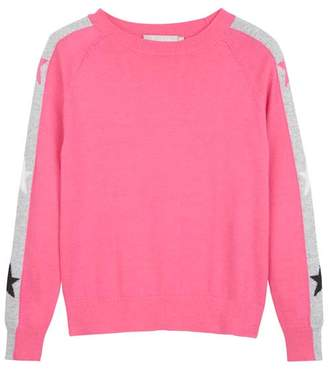 Mint Velvet Pink Star Sleeve Crew Jumper