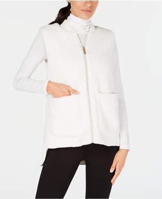 Calvin Klein Fleece High-Low Hem Vest