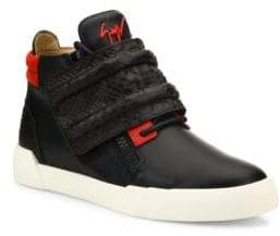 Giuseppe Zanotti Crocodile Strapped High Top Leather Sneakers