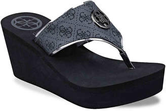 e95abb1e966913 GUESS Wedge Women s Sandals - ShopStyle