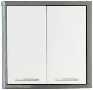 Lloyd Pascal Luna High Gloss 2-Door Mirrored Bathroom Cabinet - Grey