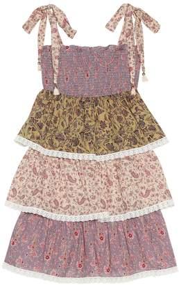 Zimmermann Kids Juniper tiered cotton dress