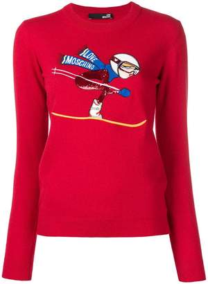 Love Moschino Ski embroidered sweater