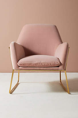 Anthropologie Velvet Everley Chair