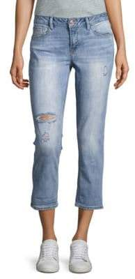 Kensie jeans Cropped Roll-Cuff Skinny Jeans