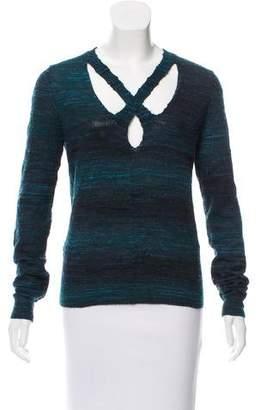 Theyskens' Theory Long Sleeve Knit Sweater