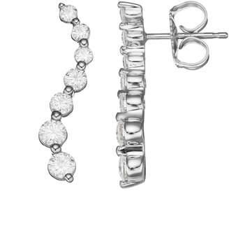 Forever Brilliant 14k White Gold 1 3/4 Carat T.W. Lab-Created Moissanite Journey Earrings