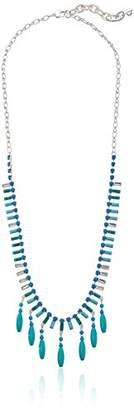 m. haskell Purple by Mini Statements -Colored Shaky Bead Long Necklace