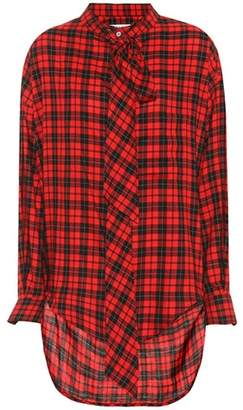 Balenciaga Checked cotton-blend shirt