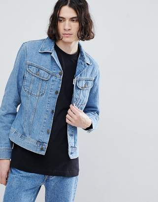 Lee Slim Rider Jacket in Super Stonewash