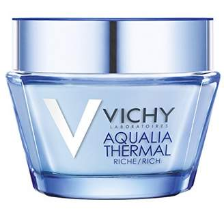Vichy Aqualia Thermal Rich Cream Face Moisturizer for Dry Skin with Hyaluronic Acid