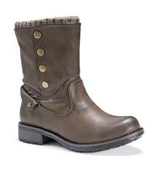 Muk Luks Women's Crumpet Boots Wheeled Heel Shoe