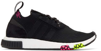 adidas Black and Pink NMD Racer PK Sneakers
