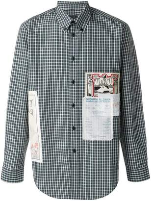 Martine Rose patchwork gingham button-down shirt