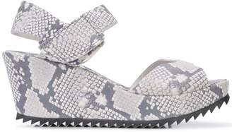 Pedro Garcia snake print platform sandals