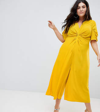 Asos Tea Jumpsuit with Knot Front