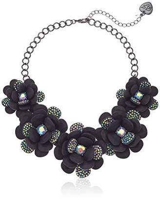 Betsey Johnson GBG) Betsey's Dark Magic Large Flower Statement Necklace