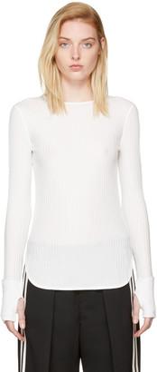 Helmut Lang White Rib T-Shirt $195 thestylecure.com