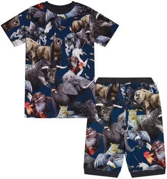 Molo National Animals Short Sleeve Pyjama Set